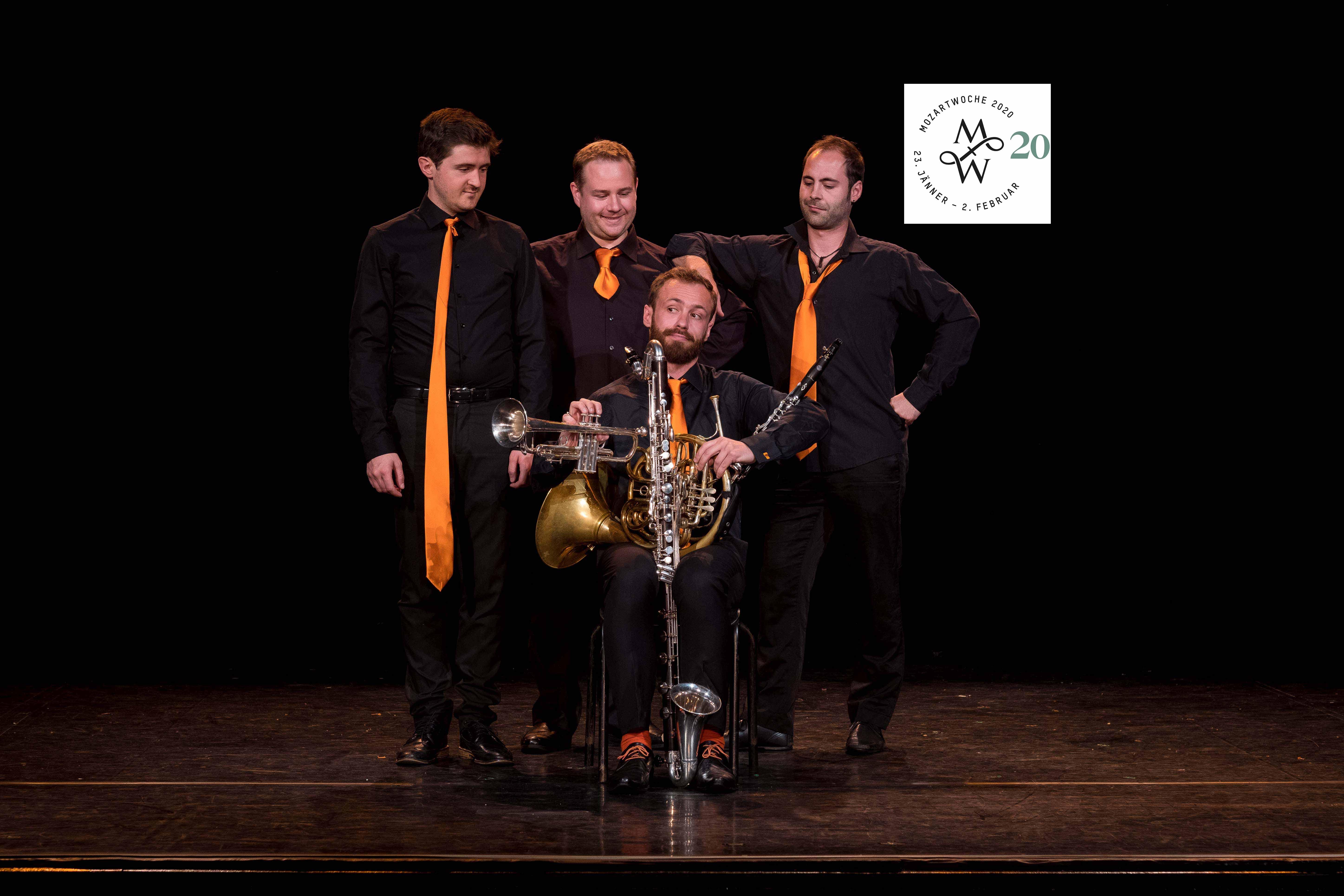 4 Krawatten für Mozart