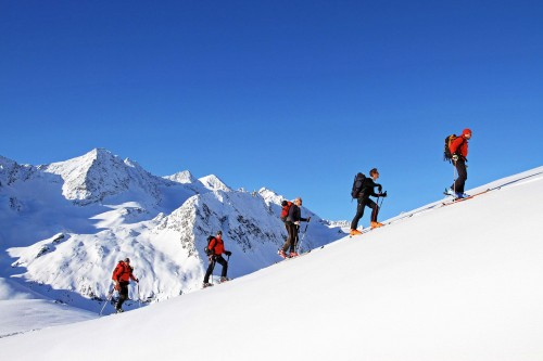 Skibergsteigen in den Alpen